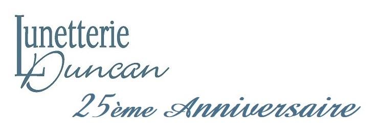 Lunetterie_Duncan_Logo_Bleu 25 ieme anniversaire decaller